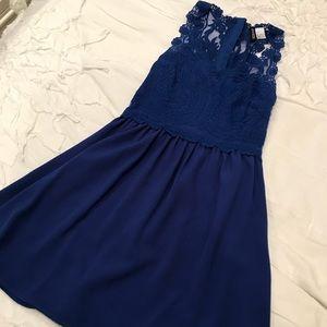 H&M Navy Lace Dress Size Small